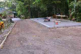 Before we laid the concrete that day.